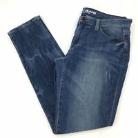 "DKNY Women's Size 8 City Ultra Skinny Jeans Medium Wash Distressed 30"" Inseam"