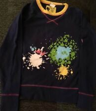 Dreams And Dots Girl's Graphic Navy Long Sleeve Top Size XL ( 10)