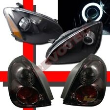 CCFL Halo Projector Headlights & LED Tail Lights For 02 03 04 Nissan Altima