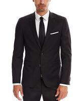 Hugo Boss Mens Sport Coat Black Size 36 Slim Fit Super 120 Ryan Wool $645 315