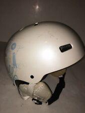RED Snowboard Helmet Trace Grom White/Black Youth Sz 53-54cm Large ski ear pad