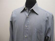 MENS L BLUE ST.CROIX PLAID L/S CASUAL DRESS SHIRT # 1992