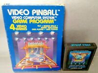 Video Pinball  Atari 2600 - Game Cartridge + Box Tested  Rare