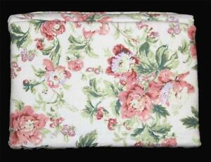 Waverly Pink Shabby Roses Floral 4Pc Flannel Queen Sheet Set NIP Nice Quality