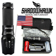 8000lm Genuine SHADOWHAWK X800 Tactical Flashlight LED Zoom Military Torch G700