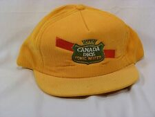 Vintage Canada Dry Tonic Water Corduroy Baseball Style Cap - NOS