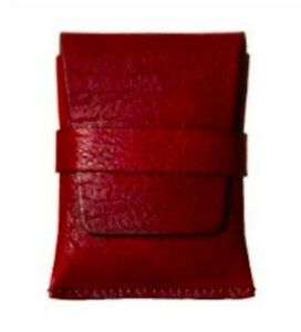 Bosca Washed Collection Envelope Card Case Credit card Wallet Cognac Old Leather