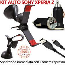Kit Auto supporto ventosa + Caricatore caricabatterie per Sony Xperia Z L36h