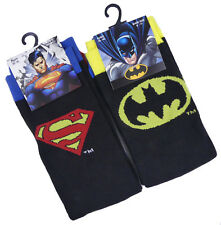 Mens DC Comic Heroes Socks Batman and Superman Two Pairs
