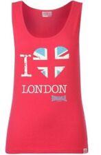 LONSDALE T-shirt Debardeur 100% Coton Femme L  - neuf