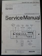 Service manual Philips Cassette autoradio 22dc554