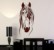 Wall Sticker Vinyl Decal Horse Head Animal Beautiful Mane Home Decor (ig2185)
