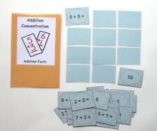 Teacher Made Math Center Learning Resource Game Addition Concentration