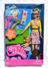 Barbie & Kelly Doll Art Teacher Set Mattel 2002 Collectible Toy Blond NRFB
