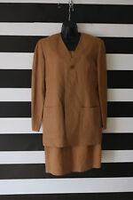 Ann Taylor Women's Dress Suit Brown Jacket Size 4 Dress Size 6
