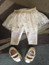 baby starters baby girl pants, size 3 mos + shoes