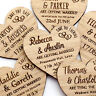 Wedding Save The Date Magnets Personalised Wooden Oak Heart Fridge Invitation