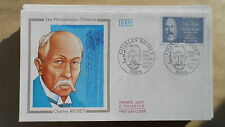 FDC Enveloppe Premier Jour - CEF - Charles Richet - 21/02/1987 - Paris