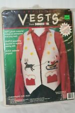 Vintage New Make Your Own Christmas Eve Vest Dimensions 1995 #62002 Felt