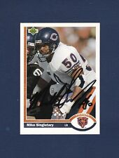 Mike Singletary signed Chicago Bears 1991 Upper Deck football card