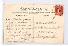 BM38 1911 Go France Londres Dieppe la Gare maritime carte postale pts