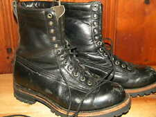 1980's Black Leathe Boots Unknown Brand Men's Size 8 1/2 D Used- Great Condition