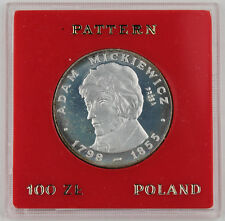 1978 POLAND PROBA 100 Zlotych Adam Mickiewicz Proof Silver Coin in CASE PR#323
