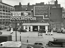1940s Koolmotor Gas Station with Bible Verse Wall Sign  8 x 10  Photograph