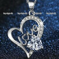 BLACK FRIDAY DEALS Silver 925 Love Necklace Xmas Gifts for Her Girlfriend Mum 3B