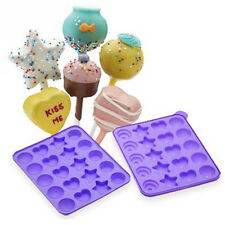 NEW! CAKE POPS INSTANT SILICONE BAKING PAN SET - BAKE CAKEPOPS EASY! FUN SHAPES