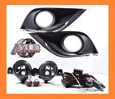 Fits 15-16 Nissan Versa 4DR Sedan Clear Bumper Fog Lights Driving Lamps+Switch