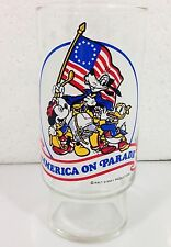 Disney Glass AMERICA ON PARADE Walt Disney Productions Coca Cola Bicentennial LE