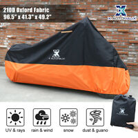XL Motorcycle Cover 210D Oxford Outdoor Waterproof Rain Dust UV Snow Protector