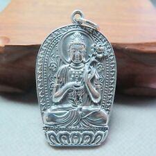 Nouvelle pure Sterling 925 Pendentif en argent homme femme Lucky Mahasthamaprapta 30*45mm