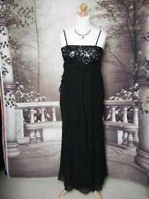Debut Ballgown/Long Dress size 14 Sequined/Beaded Evening Cocktail Formal Black