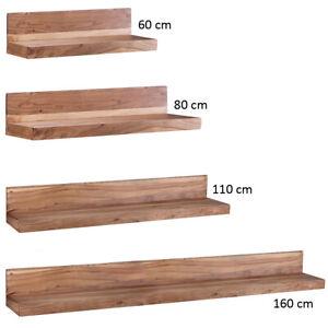 FineBuy pared del tablero de madera maciza Estantería pared estilo casa de campo