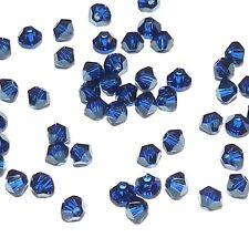 SCB222f DARK INDIGO Blue Swarovski Crystal 3mm Faceted (5301) Bicone Bead 48/pk