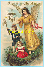 GUARDIAN ANGEL Watches Over Children on Cliff~BUTTERFLY