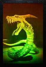 "11x16"" (28x40cm) Dragon 3D Dinokonda animated - True 3d Laser hologram on Glass"