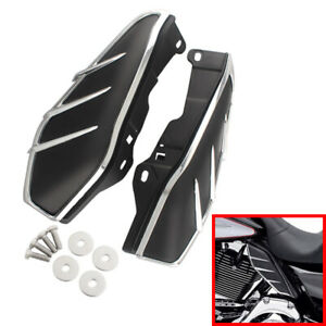 Heat Shield Mid-Frame Air Deflector Trim For Harley Touring Street Glide 2009-16