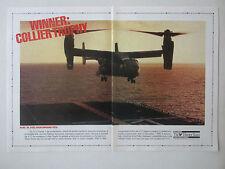 4/1991 PUB BELL BOEING V-22 OSPREY TILTROTOR SHIPBOARD TEST COLLIER TROPHY AD