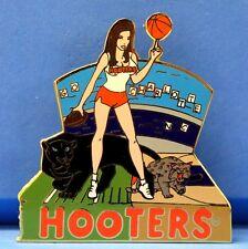 HOOTERS GIRL PANTHERS BASKETBALL FOOTBALL GAME CHARLOTTE NC NORTH CAROLINA PIN