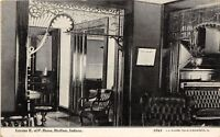 C85/ Bluffton Indiana In Postcard c1910 Knights of Pythias Homes Interior
