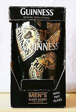 GUINNESS Sleep Boxer Shorts with PINT GLASS  Men's Graphic Tee T-SHIRT ~ S Small