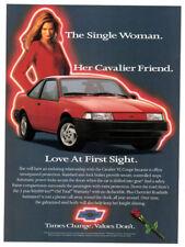 1993 CHEVROLET Cavalier VL Coupe Vintage Original Print AD - Red car woman photo
