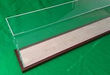 27 x5 x10 Acrylic Display Case Showcase for Ocean Liner Cruise Ships wooden base