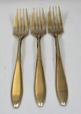 Vintage Dirigold Dirilyte Goldware Regal Flatware Silverware Pie Dessert Fork