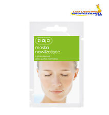 3 x ZIAJA FACE MASK MOISTURIZING WITH GREEN CLAY NORMAL AND DRY SKIN 7ml  00698