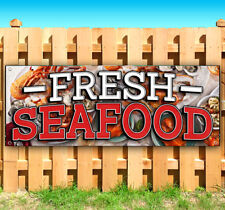 FRESH SEAFOOD Advertising Vinyl Banner Flag Sign Many Sizes CARNIVAL FAIR FOOD