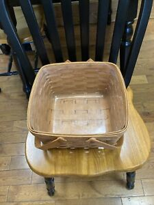 LONGABERGER BASKET 6x12 1/4 WITH TWO HANDLES EXCELLENT CONDITION